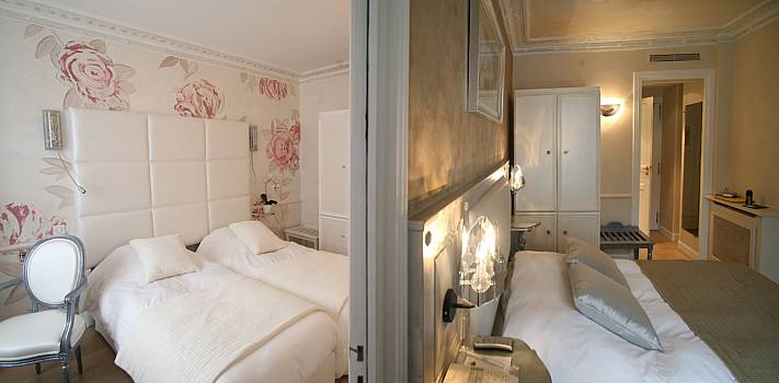 nos chambres suites hotel gavarni paris. Black Bedroom Furniture Sets. Home Design Ideas